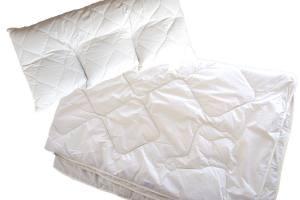 Alpaka-Kopfkissen-Bettdecke-Set